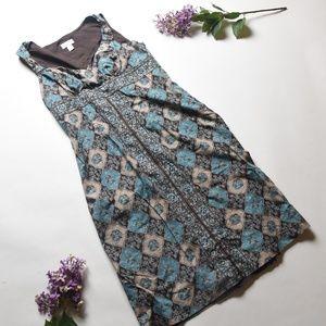 LOFT Ann Taylor Brown/Green/Blue Dress - Size 10